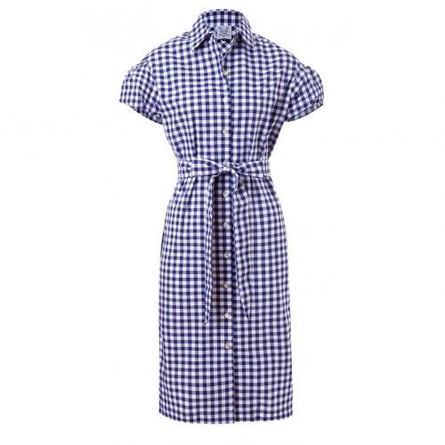 Thierry Colson Irma Kleid Blau-Weiß