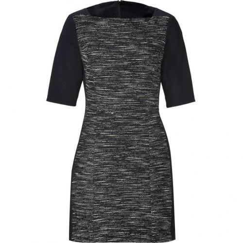 Tibi Black/Cream Boulce Knit Dress