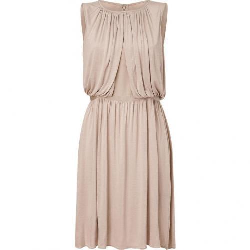 Tibi Opal Cotton-Silk Draped Dress