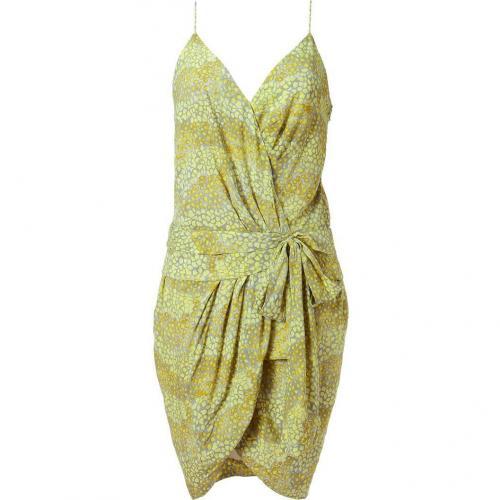 Twenty8twelve Silver Lemon Printed Draped Dress