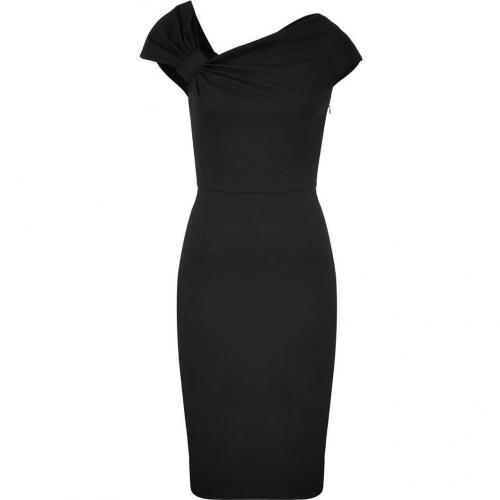 Valentino Black Classic Draped Dress