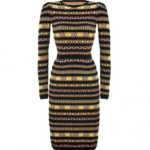 Valentino Black-Multi Knit Pencil Dress