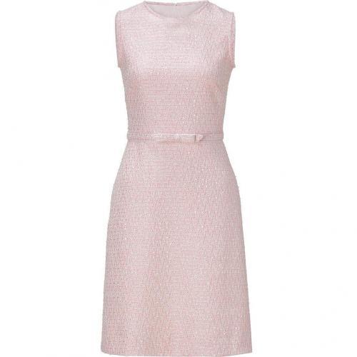Valentino Blush Belted Boulce Knit Dress
