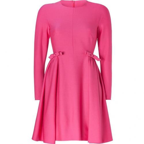 Valentino Fuchsia Long Sleeve Wool Dress with Bows