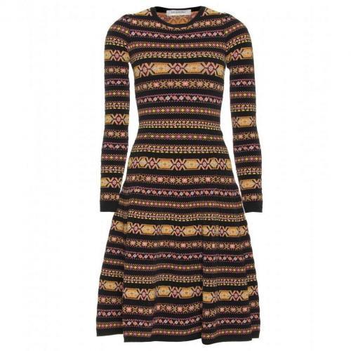 Valentino Gemustertes Stretch-Kleid