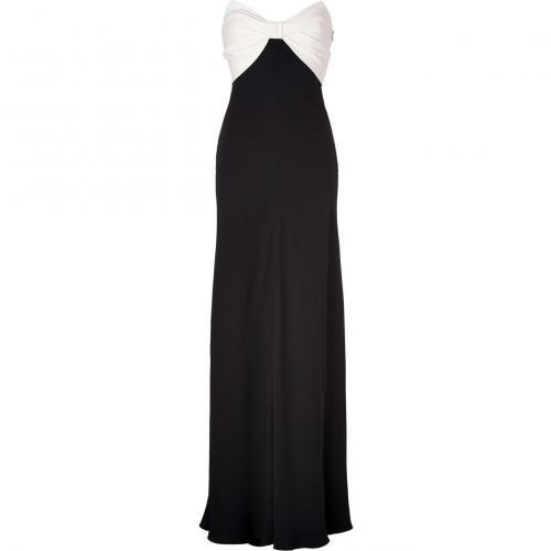 Valentino Ivory/Black Silk Gown