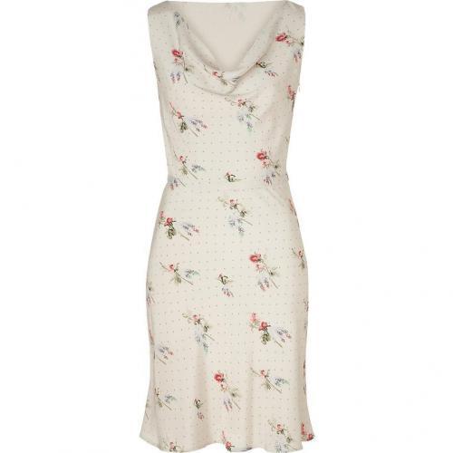 Valentino Pearl Floral Silk Dress