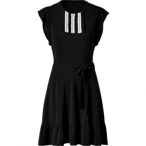 Valentino R.E.D. Black Dress With Ruffels