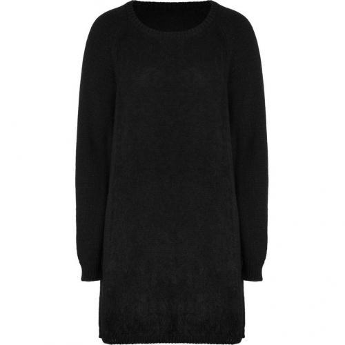 Vanessa Bruno Athé Black Mixed Knit Dress