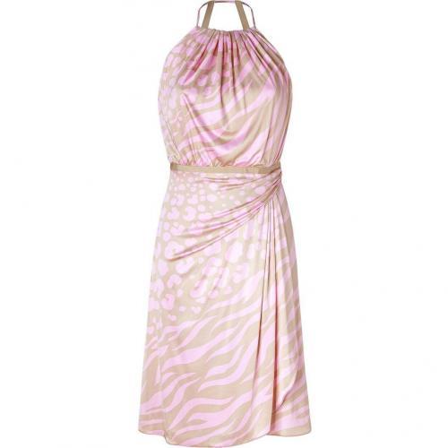 Versace Beige/Pink Animal Print Dress