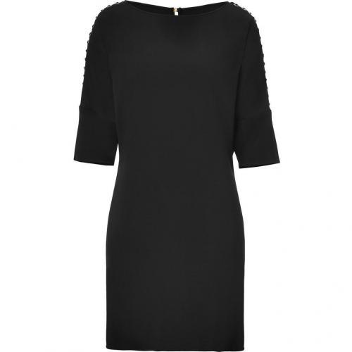Versace Black Laced Dolman Sleeve Dress