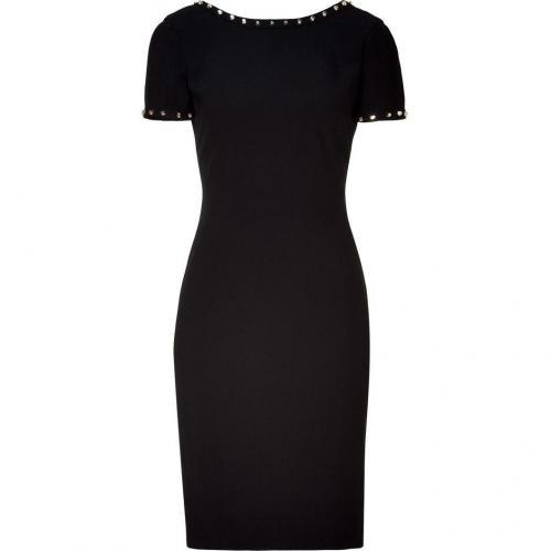 Versace Black Rock Stud Sheath Dress