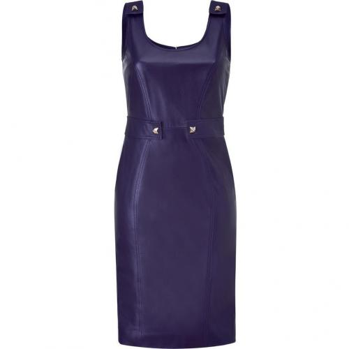 Versace Persian Blue Studded Leather Dress