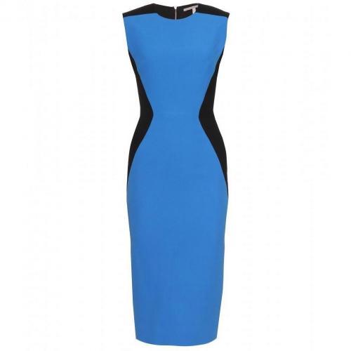 Victoria Beckham Tailliertes Kleid Blue