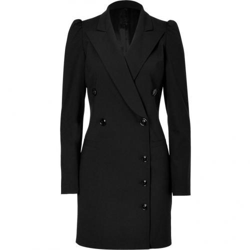 Viktor & Rolf Black Stretch Wool Blazer Dress